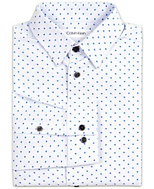 Big Boys Stretch Shadow Dot Stripe Dress Shirt