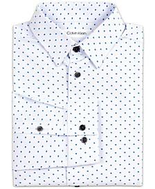 Big Boys Stretch Shadow Dot Stripe Dress Shirt