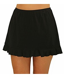Solid Skirted Bottom with Ruffle
