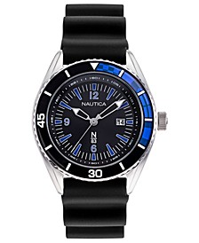 N83 Men's Urban Surf Black, Blue Silicone Strap Watch 44mm