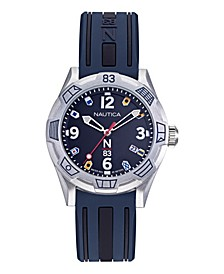 N83 Ladies Polignano Navy, Silver Silicone Strap Watch 36mm