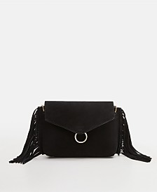 Mango Fringe Leather Bag
