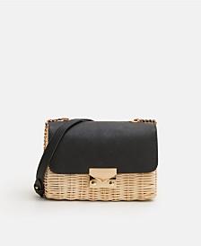 Mango Bamboo Contrasting Bag