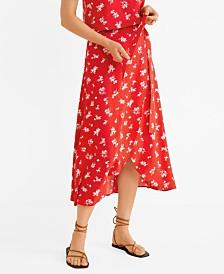 Mango Wrap Print Skirt