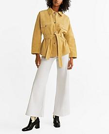 Belted Suede Jacket