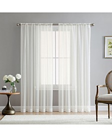 Lumino by Canberra Sheer Voile Rod Pocket Curtain Panels - 54 W x 95 L - Set of 2
