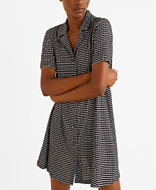 Mango Shirt Textured Dress
