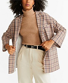 Checked Unstructured Jacket