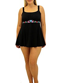 Folkloric Embroidered Band Dress