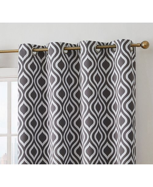 """HLC.me Obscura By Albany Blackout Grommet Curtain Panels - 52"""" W X 63"""" L - Set of 2"""