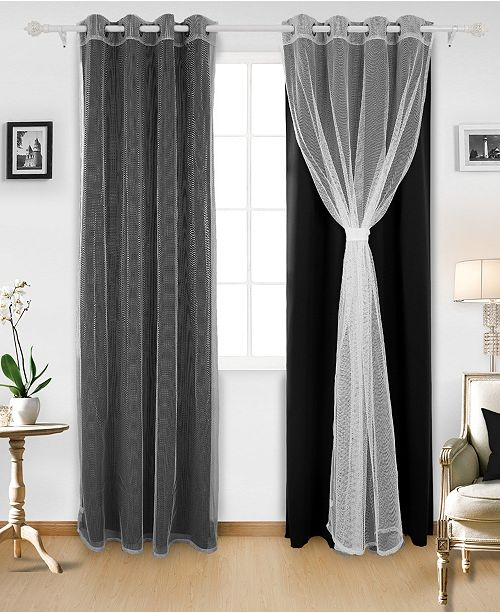 DECONOVO Grommet Mix and Match Thermal Insulated Blackout Curtains