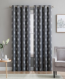 Obscura by Brisbane Print Blackout Grommet Curtain Panels - 52 W x 96 L - Set of 2