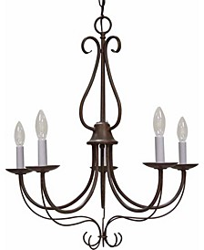 Minster 5-Light Candle-Style Hanging Chandelier