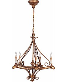 Baroque 5-Light Candle-Style Hanging Chandelier