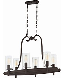 Regina 6-Light Hanging Linear Island Chandelier