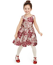 Toddler Girls Floral Brocade Dress