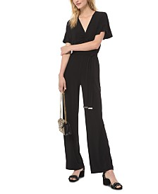 Michael Michael Kors Belted Ruched Jumpsuit, Regular & Petite