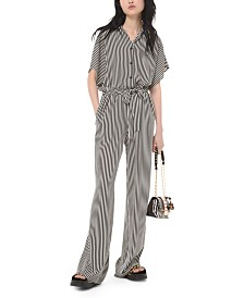 Michael Michael Kors Mini Ribbon Striped Jumpsuit