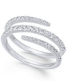 Diamond Wrap Statement Ring (5/8 ct. t.w) in 14k White Gold
