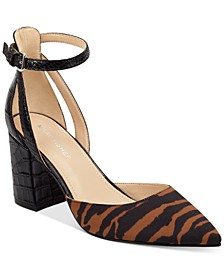 Raie Block-Heel Pumps
