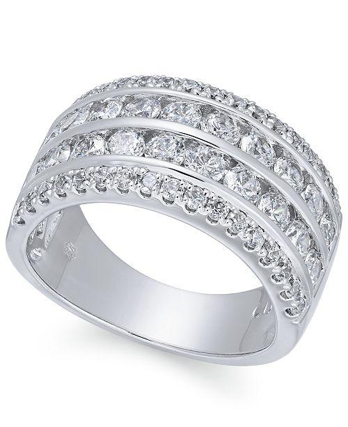 Macy's Diamond Multi-Row Band (2 ct. t.w.) in 14k White Gold