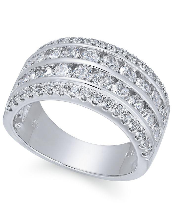 Macy's - Diamond Multi-Row Band (2 ct. t.w.) in 14k White Gold