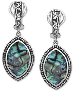 Effy Abalone Marquise Drop Earrings in Sterling Silver