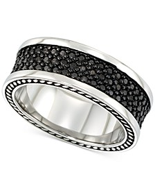 Men's' Black Ion-Plated Ring in Stainless Steel