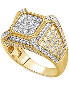 Men's Diamond Cluster Ring (1 ct. t.w.) in 10k Gold
