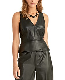 Bruna Faux-Leather Top