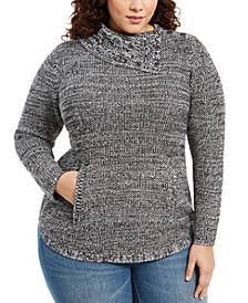 Plus Size Button-Trim Sweater, Created For Macy's