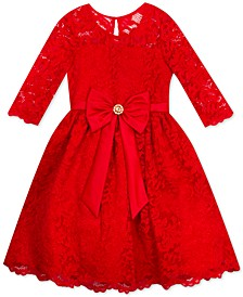 Big Girls Plus Size Lace Bow Dress