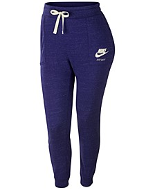 Plus Size Sportswear Gym Vintage Heathered Pants