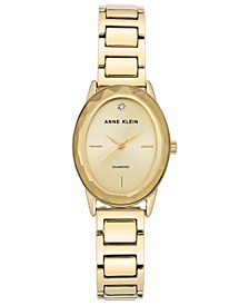Women's Diamond-Accent Gold-Tone Bracelet Watch 24x30mm