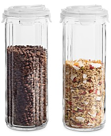 ProKeep Striped Glass Food Storage Containers, Set of 2, Created for Macy's