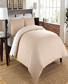 Authentic Chambray Oxford Stripe Reversible Duvet Cover Set- King