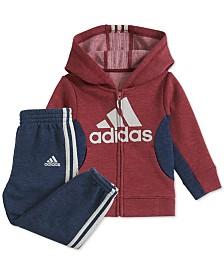 adidas Baby Boys Colorblocked Zip-Up Hoodie & Pants Set