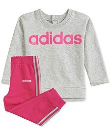 Baby Girls Pullover Sweatshirt & Jogger Pants Set