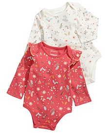 Baby Girls 2-Pc. Cotton Holiday Bodysuit Set, Created For Macy's
