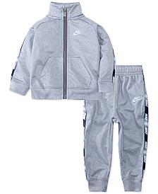 Nike Baby Boys 2-Pc. Logo-Trim Jacket & Jogger Pants Track Set