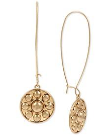 Gold-Tone Shield Linear Drop Earrings