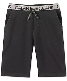 Calvin Klein Jeans Big Boys Logo Waistband Knit Shorts