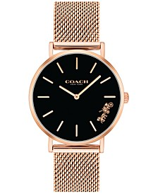 Women's Perry Rose Gold-Tone Stainless Steel Mesh Bracelet Watch 32mm