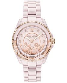 LIMITED EDITION Preston Blush Ceramic Bracelet Watch 32mm, Created for Macy's