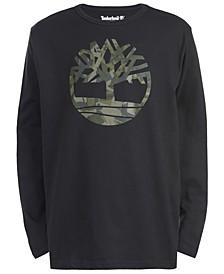 Big Boys Antrim Black Camo Logo T-Shirt
