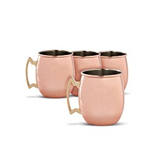 Smooth Copper Moscow Mule Mugs, Set of 4