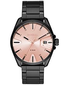 Men's MS9 Black Stainless Steel Bracelet Watch 43mm