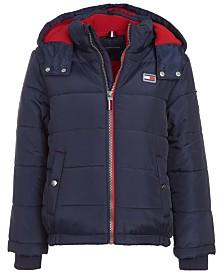 Tommy Hilfiger Baby Boys Steven Dark Blue Colorblocked Puffer Jacket