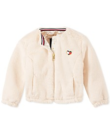 Tommy Hilfiger Baby Girls Faux-Fur Bomber Jacket