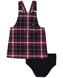 Tommy Hilfiger 2-Pc. Baby Girls Plaid Skirtall & Panty Set